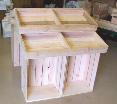 Wood Display, Produce Display, Cheese Display, Candy Display, Wine Bottle Display, Wood Crate Display