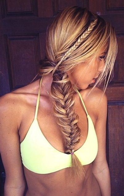 the fishtail braid is gorgeous, but the color is the best part ! i wish my hair was like that