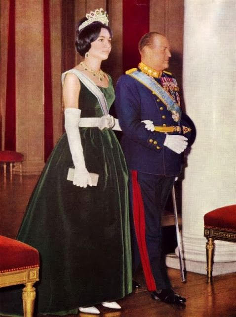 H.I.M. Empress Farah Pahlavi of Iran and H.M. King Olav V of Norway