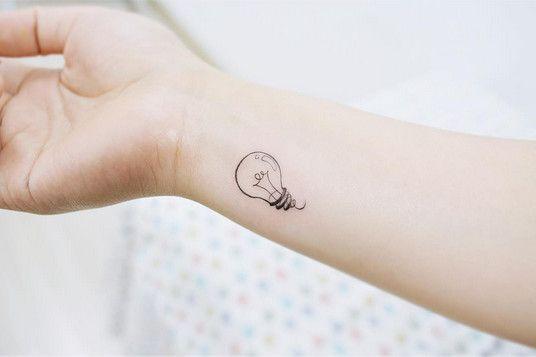 Little Lightbulb - Dainty Wrist Tattoos for Women - Photos
