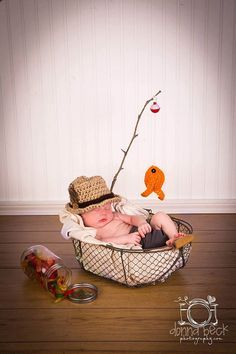 Baby Boy Fishing Hat & Fish SET Newborn 0 3m 6m Crochet Photo Prop Boys Girls Clothes ADORABLE Perfect for All Seasons Daddies Love This