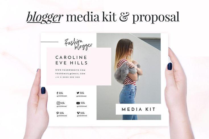 Blogger Media Kit & Proposal by AdoredDesigns.com on @creativemarket