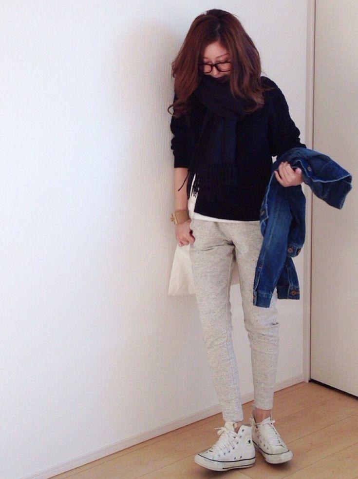 TODAYFULのテーラードジャケットを使ったmayumiさんのコーディネートです。│いわゆる上下GUってやつですね。