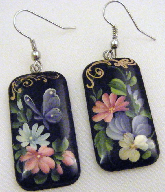 107 best images about paper mache earring on pinterest for How to make paper mache jewelry