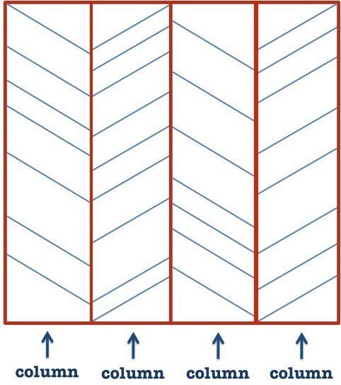 Herringbone string quilt tutorial