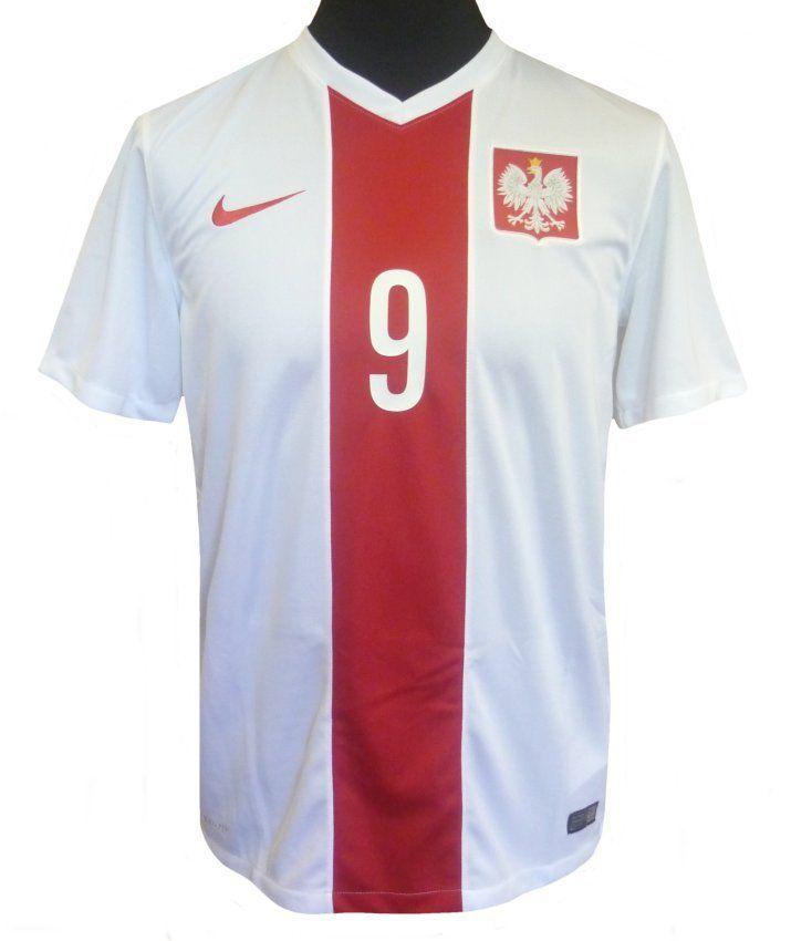 best website 9a386 21518 poland 9 lewandowski away soccer country jersey