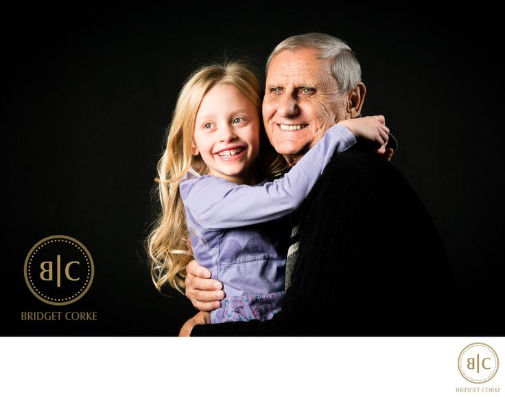 Bridget Corke Photography - Granddaugher and Grandfather Moment: