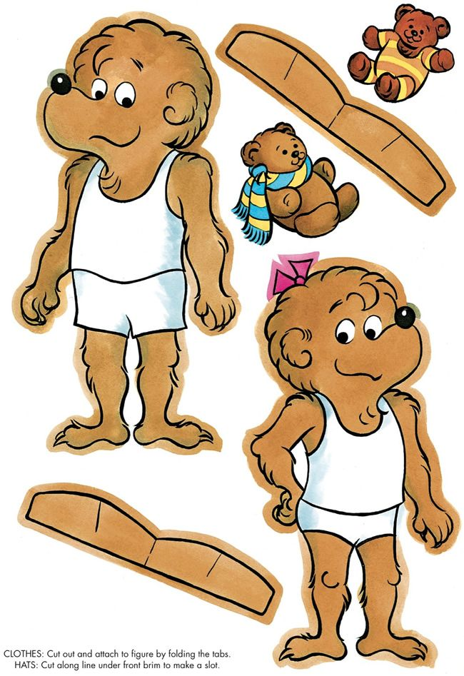 berenstain bears paper dolls1