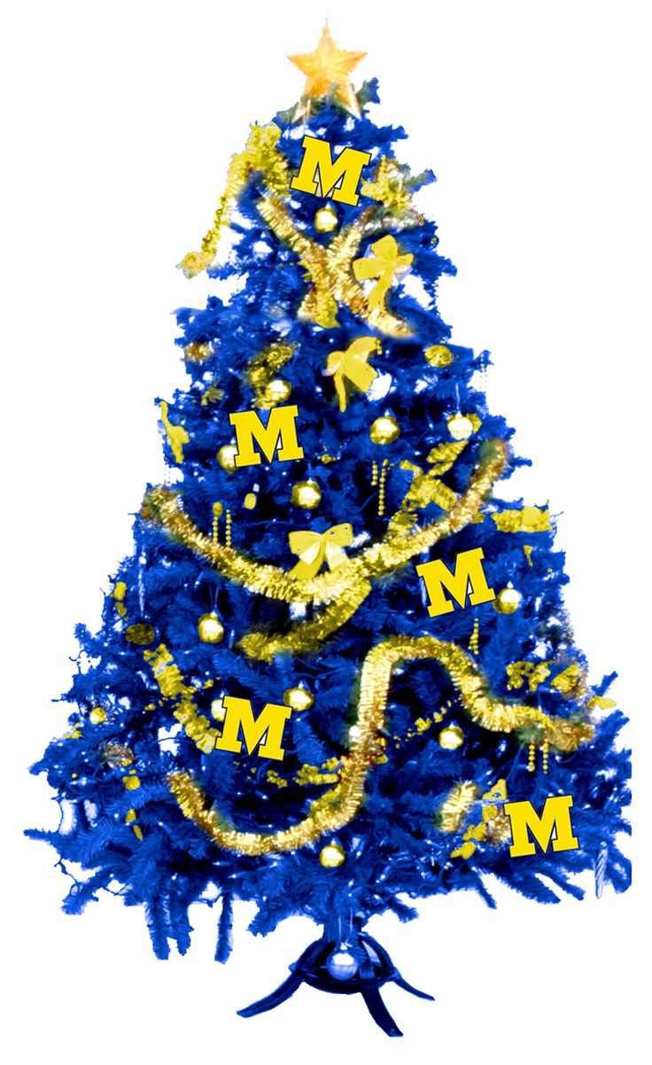 University of michigan christmas ornaments - Mini Michigan Christmas Tree For The Dorm