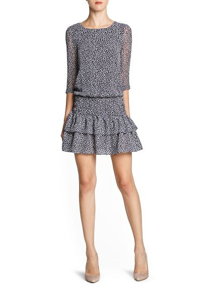 Animal print dress skirt ruffles - outlet - now only 19,99€