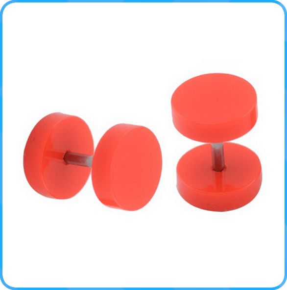 ES02131 Light red fashion fake plugs wholesale cheap fashion young earrings jewelry