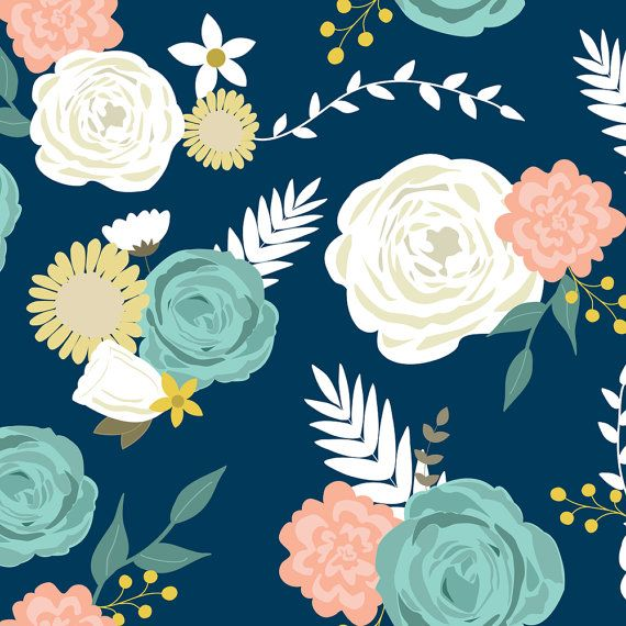 1 yard (or 1 fat quarter) of Summer blooms navy by designer mintpeony. Printed on Organic Cotton Knit, Linen Cotton Canvas, Organic Cotton Sateen, Kona Cotton, Basic Cotton Ultra, Cotton Poplin, Minky, Fleece, or Satin fabric.  Available in yards and quarter yards (fat quarter). This fabric is digitally printed on demand as orders are placed. Unlike conventional textile manufacturing, very little waste of fabric, ink, water or electricity is used. We print using eco-friendly, water-based…
