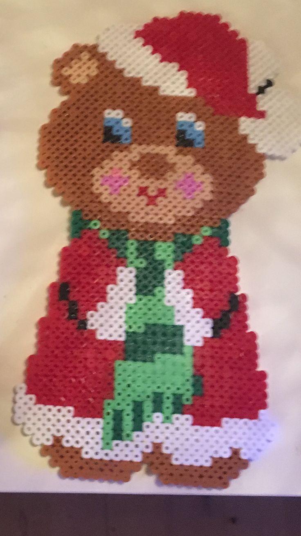 Jule bamse / Christmas teddy hama perler / Beads