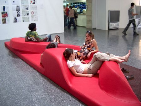 interesting creative office furniture   17 Best images about Sculptural public seating on ...