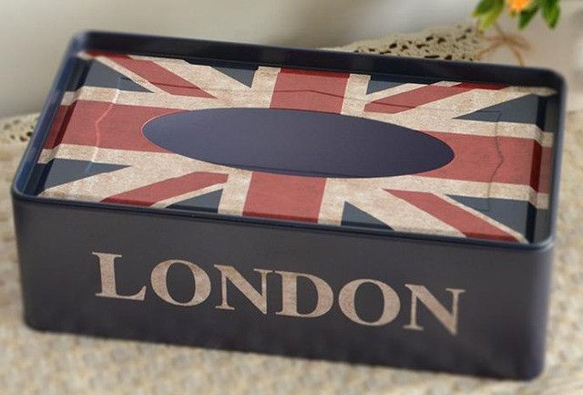 Metal London Paper Tissue Box