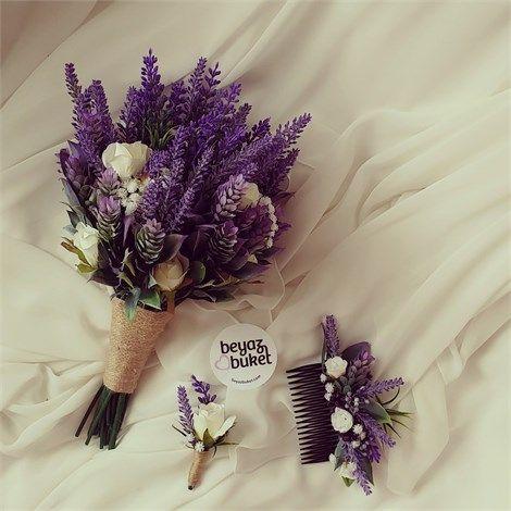 Lavanta Gül Gelin Çiçeği (Buketi) | Beyaz Buket    Gül ile lavantanın yan yana mucizesi gelin çiçeği (buketi) , damat yaka çiçeği ve gelin saç aksesuarı sadece bir kaç tane ile sınırlı olarak sizin için hazırlandı.