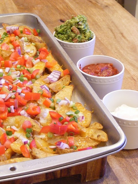 Irish Nachos: Irish Nachos, Yummy Recipestreats, Potato Wedges, Food, Potatoes, Patricks, Mini Manor, Favorite Recipes