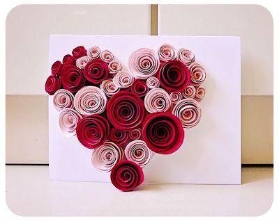 Cartões artesanais com rosas de papel | Pra Gente Miúda