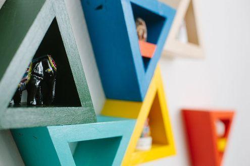How to: Make DIY Triangle Shelves