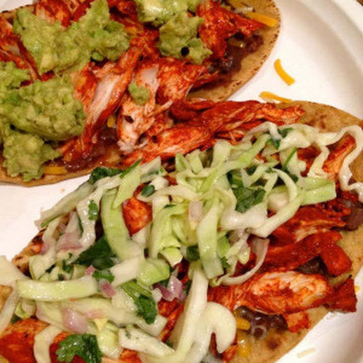 Chicken Tostadas With Black Beans And Cilantro-Lime Cream Recipes ...