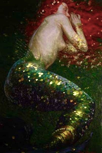 Sleeping Mermaid | ©Victor Nizovtsev Mermaid Art | Source: Bing images
