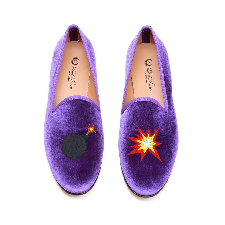 Del Toro For Moda Operandi Emoji Smoking Slippers
