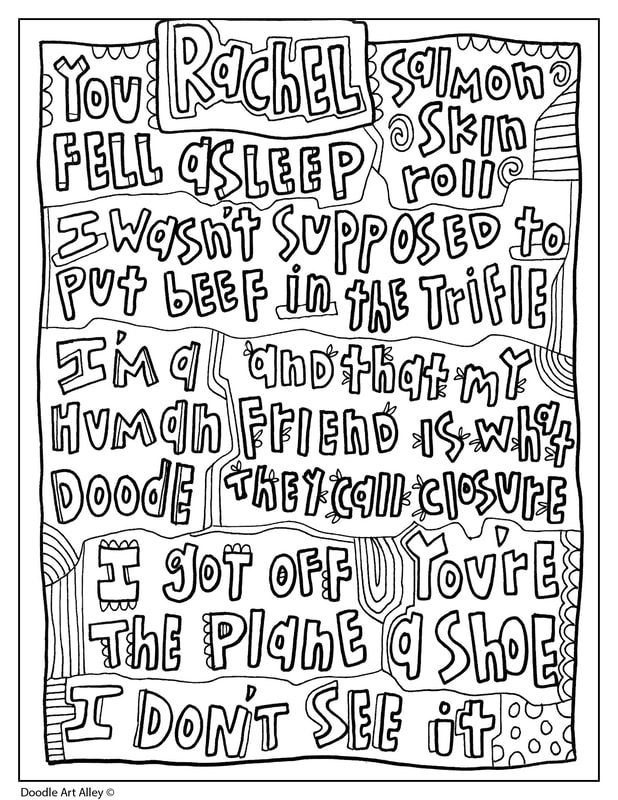 Friends Quotes Doodle Art Alley Quote Coloring Pages Friends Quotes Doodle Art