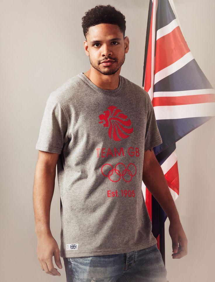 Team GB 1905 Logo T Shirt - Mens - Grey