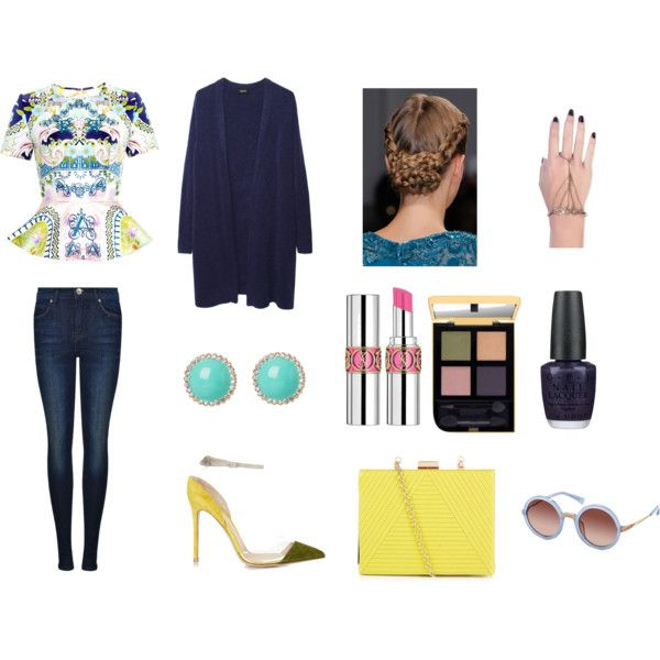 The simple classy navy look
