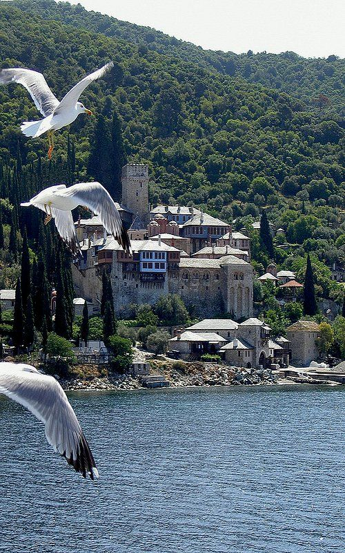 Monastery Docheiariou, Mount Athos, Greece // by Nikol@s.P on Flickr