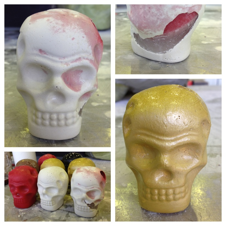 Skull Molds - Wax and Plaster