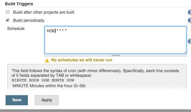 Jenkins - how to setup build cron - InfoHeap