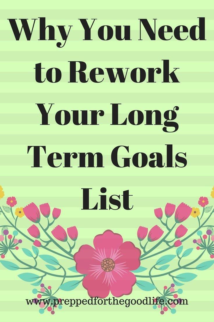 Long Term Goals List - Prepped for the Good Life (scheduled via http://www.tailwindapp.com?utm_source=pinterest&utm_medium=twpin)