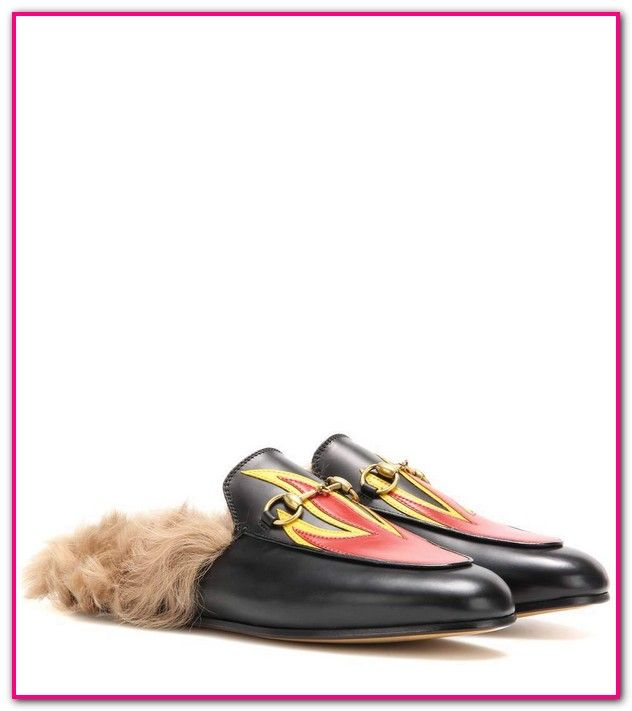91c7365b1 Goat Hair Gucci Slippers-Shop the Princetown Horsebit slipper by Gucci. The  Princetown slipper has long hair goat inside and out then finished with our  ...