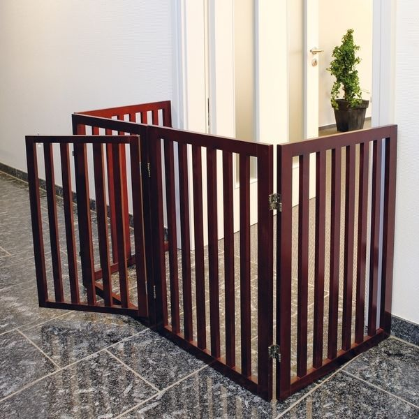 Convertible Wooden Dog Gate & Play Pen Pet Supplies Equipments Supplies Cages #Trixie