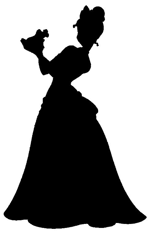 the princess and the frog silhouette - Tiana and prince Naveen