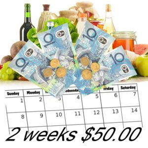 A Whole New Challenge... The $25 a week challenge has morphed into a $50 per person a fortnight challenge.  I have had quite a few comments saying that people would prefer a fortnightly shopping list as that is how Centrelink is paid.