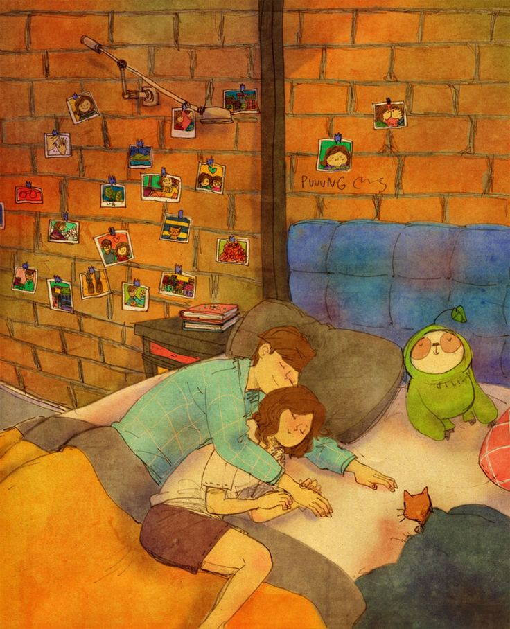 Love Is In The Small Things: New Illustrations By Korean Artist Puuung (20+ Pics) | Bored Panda