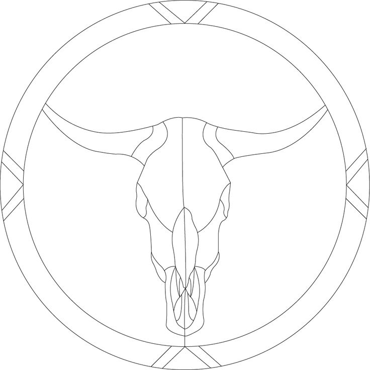 The 25 best skull template ideas on pinterest diy halloween steer skull template stained glass steer skull pattern pnl 003 about this item this is pronofoot35fo Gallery