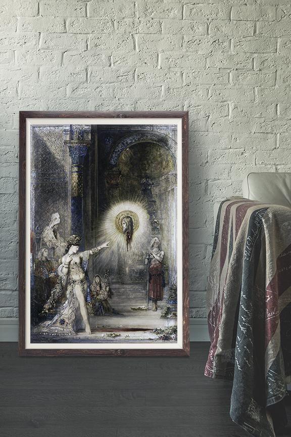 Gustave Moreau The Apparition Vintage Wall Art Print Vintage Wall Art Prints Vintage Wall Art Art Nouveau Decor