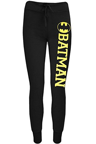Oops Outlet Womens Ladies Batman Superman Jog Bottom Full Length Stretch Trouser