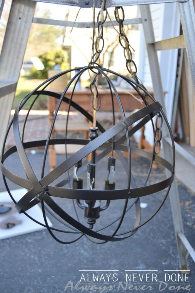 orb-pendant-light-always-never-done 4 Will be looking for an orb to make one of these!!!