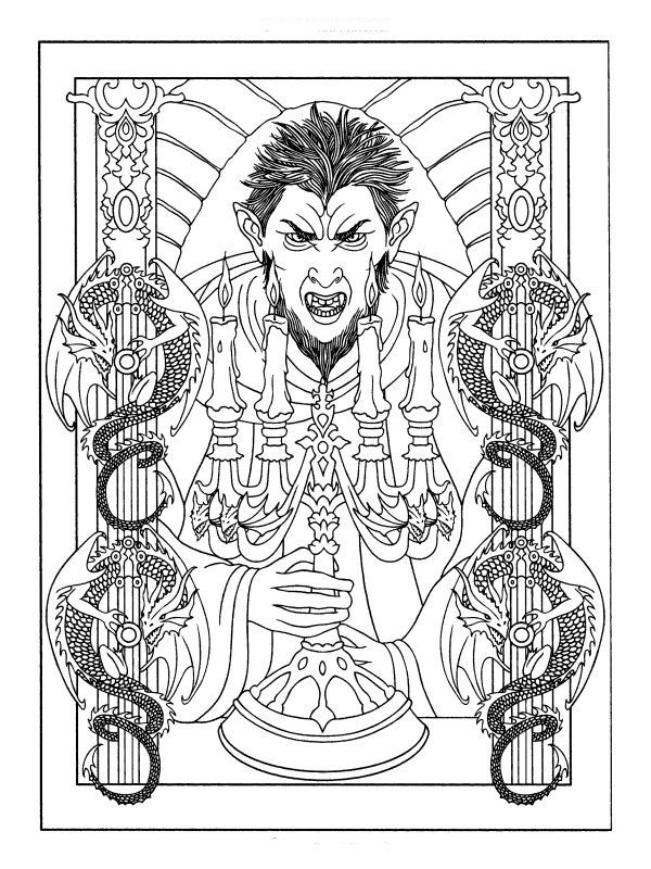 59 best horror images on pinterest horror films horror Horror coloring book for adults