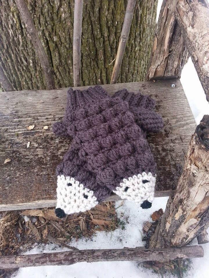 Fingertips Do: Crochet Hedgehog Mittens