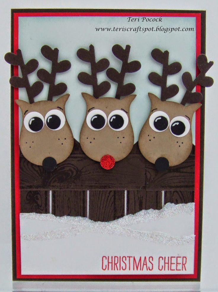 Stampin' Up! - Owl Punch Reindeer!  Teri Pocock - http://teriscraftspot.blogspot.co.uk/2014/12/owl-punch-reindeer.html