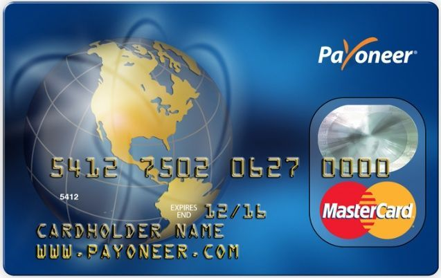 Payoneer account and prepaid Mastercard.