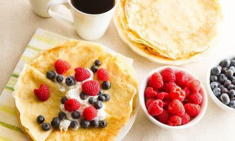 Per Morbergs frasiga pannkakor passar utmärkt att serveras på brunch eller till lunch.