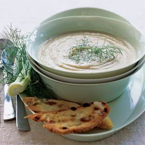 Fennel and Comice Pear Soup | MyRecipes.com sounds weird but if i have ...