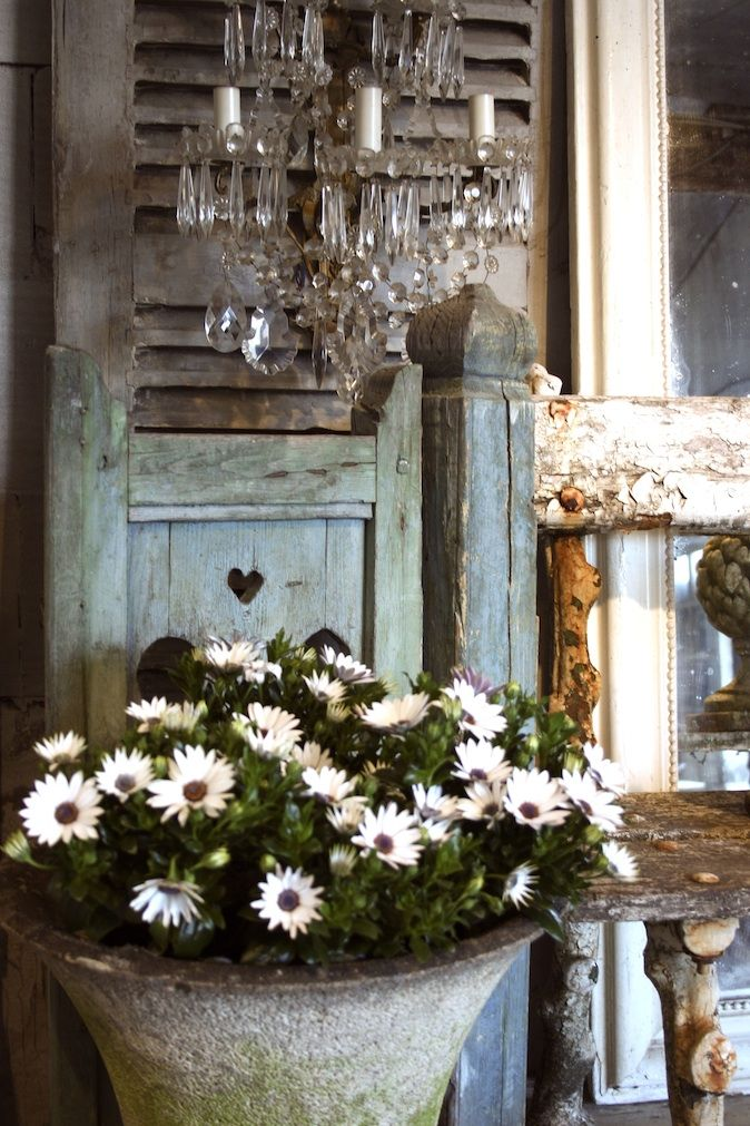 Vignette with Crystal Sconces - Atelier de Campagne