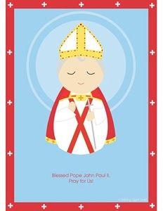 Blessed Pope John Paul II printable, free Catholic printables! #catholic #homeschooling #popejohnpaulii #saints #christian #catholickids
